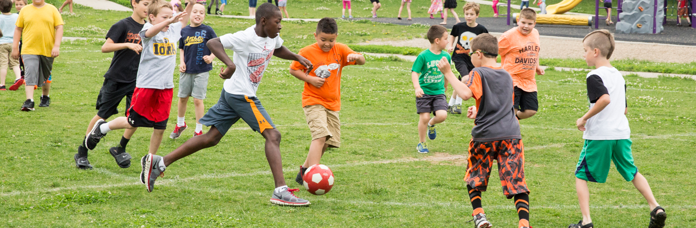 Pleasant Hill Elementary School Students Playing Soccer