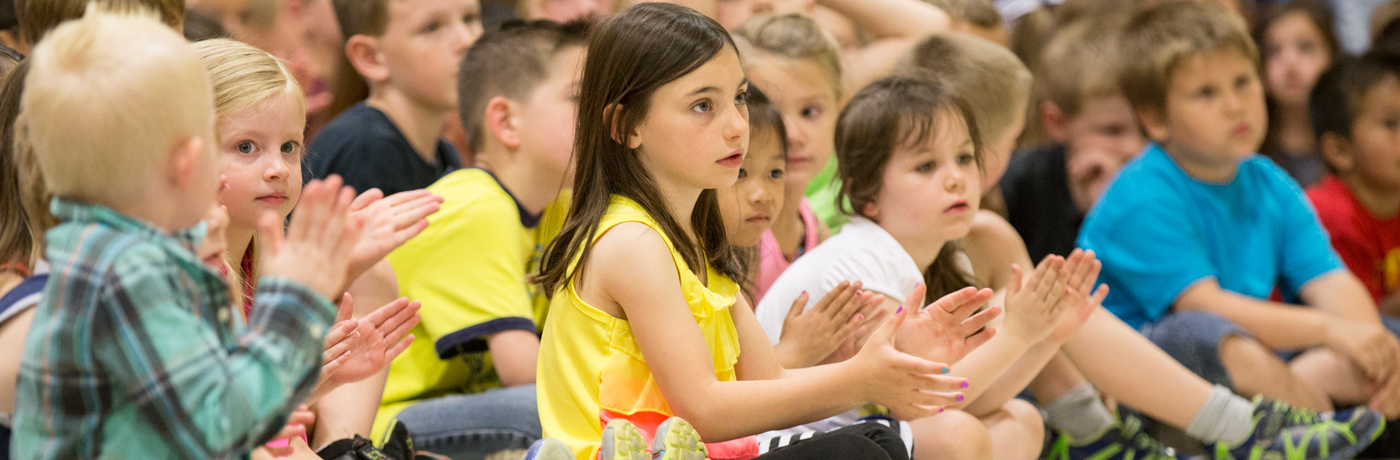 Pleasant Hill Elementary School Students Clapping