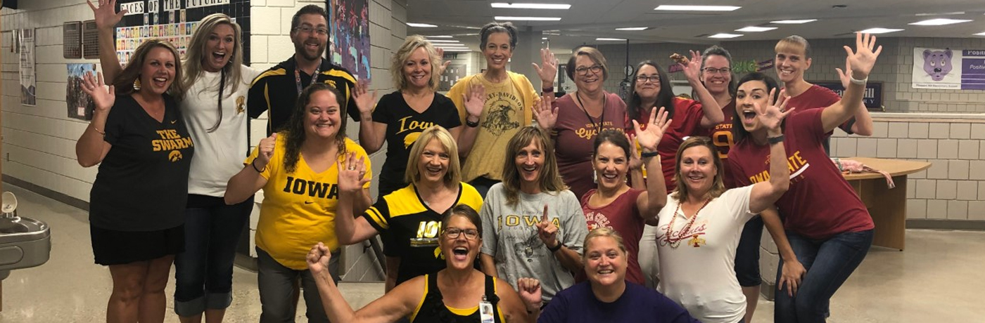 Staff Cheers for Iowa